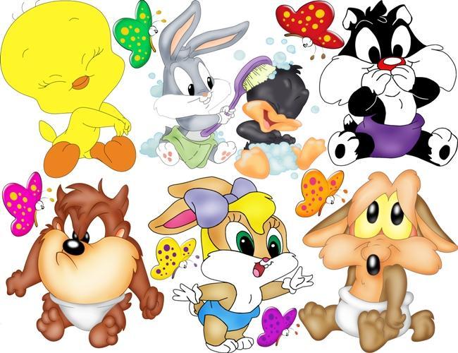 Adesivi Murali Looney Tunes.Adesivo Decorativo Esclusivo Baby Looney Tunes 2