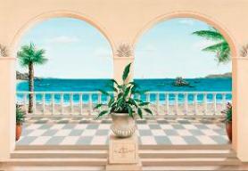 Italcasadecor gigantografie trompe l oeil for Carta da parati casa al mare