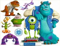 "Adesivo decorativo esclusivo ""Monsters Univercity"""