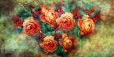 "Gigantografia ""Affresco pittorico con rose"""